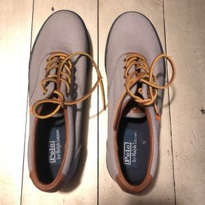 Polo by Ralph Lauren Gray Canvas Sneaker Size 9